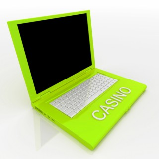 Laptop casino grön